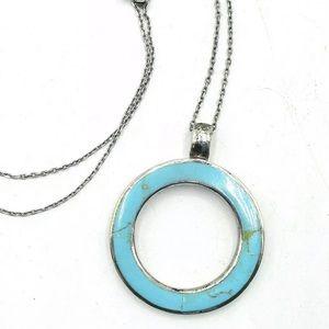 Jewelry - Turquoise Round 925 Pendant & Chain